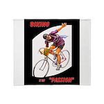 Biking is My Passion, Bicycle Riding Print Throw B
