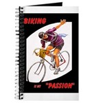 Biking is My Passion, Bicycle Riding Print Journal