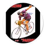 Biking is My Passion, Bicycle Riding Print Round C