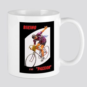 Biking is My Passion, Bicycle Riding Print Mugs