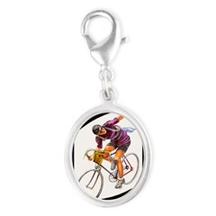 Biking is My Passion, Bicycle Riding Print Charms