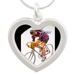 Biking is My Passion, Bicycle Riding Print Necklac