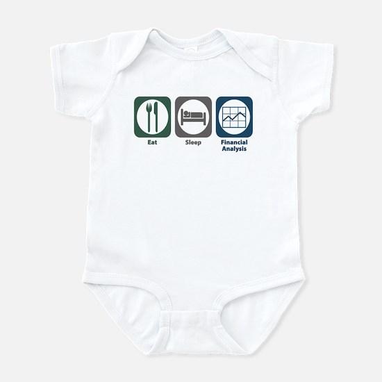 Eat Sleep Financial Analysis Infant Bodysuit