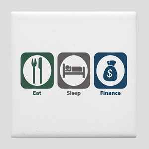 Eat Sleep Finance Tile Coaster