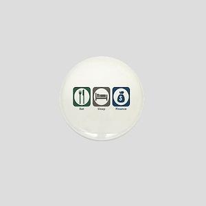 Eat Sleep Finance Mini Button