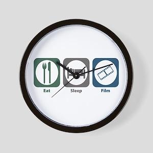 Eat Sleep Film Wall Clock