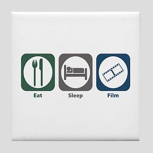 Eat Sleep Film Tile Coaster