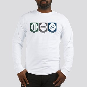 Eat Sleep Film Long Sleeve T-Shirt