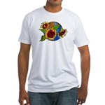 Earth Day Planet Fitted T-Shirt