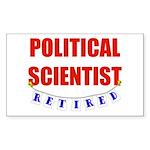 Retired Political Scientist Rectangle Sticker