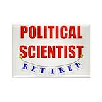 Retired Political Scientist Rectangle Magnet