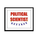 Retired Political Scientist Framed Panel Print