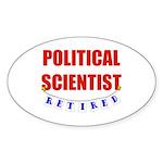 Retired Political Scientist Oval Sticker (10 pk)