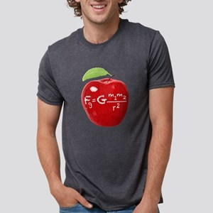 Science Teacher's Newton Gravity Law Apple T-Shirt