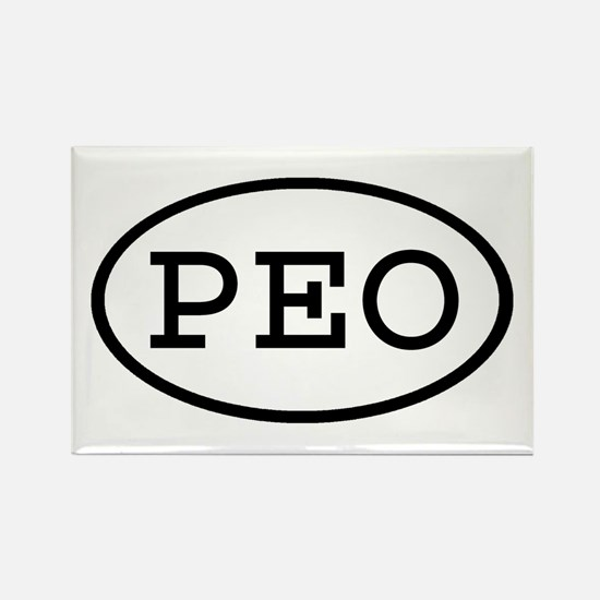 PEO Oval Rectangle Magnet