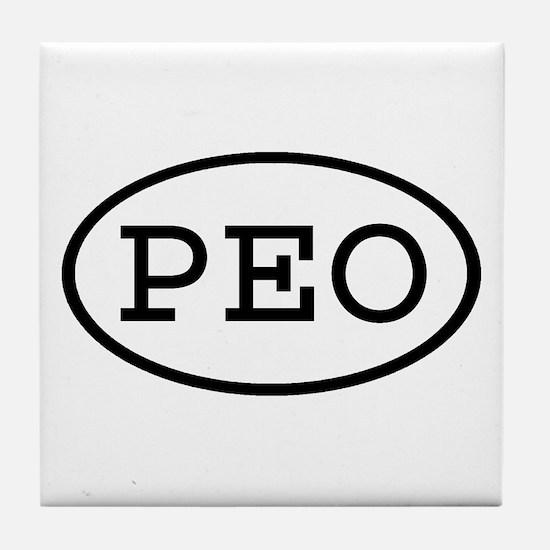PEO Oval Tile Coaster