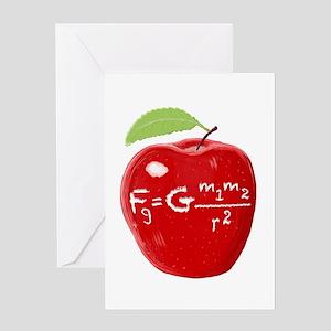 Science Teacher's Newton Gravit Greeting Cards