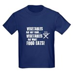 BBQ - Vegetables Are Not Food - Kids Dark T-Shirt