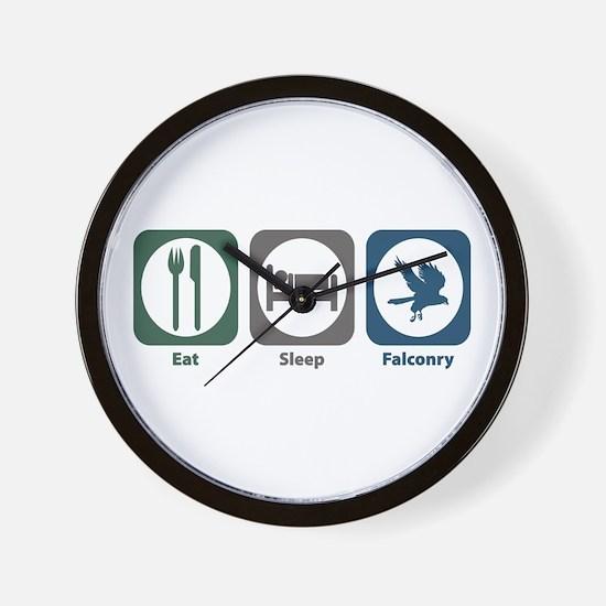 Eat Sleep Falconry Wall Clock