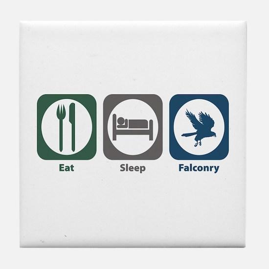 Eat Sleep Falconry Tile Coaster