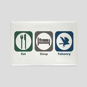 Eat Sleep Falconry Rectangle Magnet