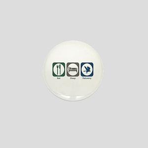 Eat Sleep Falconry Mini Button
