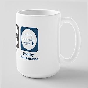 Eat Sleep Facility Maintenance Large Mug