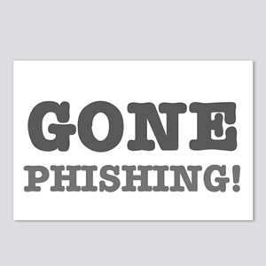 GONE PHISHING! Postcards (Package of 8)