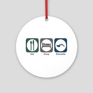 Eat Sleep Excavate Ornament (Round)