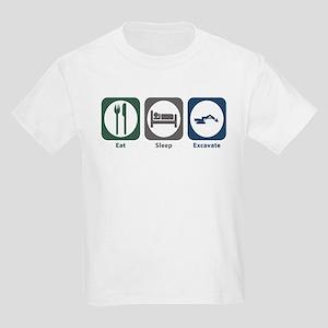 Eat Sleep Excavate Kids Light T-Shirt