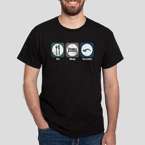 Eat Sleep Excavate Dark T-Shirt
