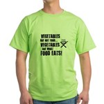 BBQ - Vegetables Are Not Food - Green T-Shirt