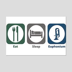 Eat Sleep Euphonium Mini Poster Print