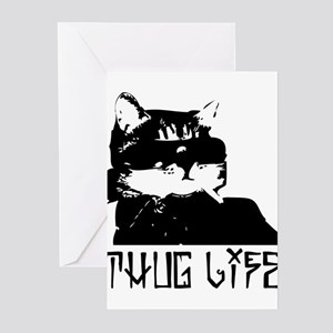 Cat Thug Life Greeting Cards