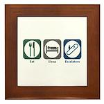 Eat Sleep Escalators Framed Tile