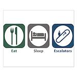 Eat Sleep Escalators Small Poster