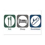 Eat Sleep Escalators Mini Poster Print