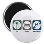"Eat Sleep Escalators 2.25"" Magnet (10 pack)"