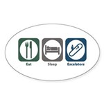 Eat Sleep Escalators Oval Sticker (10 pk)