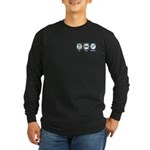 Eat Sleep Escalators Long Sleeve Dark T-Shirt