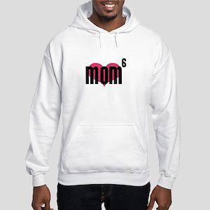 Mom of Six Hooded Sweatshirt
