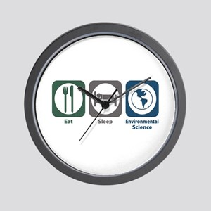 Eat Sleep Environmental Science Wall Clock