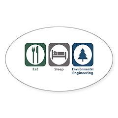 Eat Sleep Environmental Engineering Decal