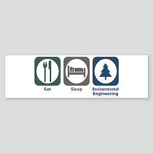 Eat Sleep Environmental Engineering Sticker (Bumpe