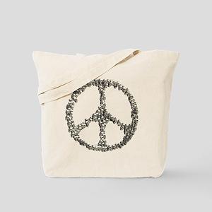 Skulls Peace Sign Tote Bag