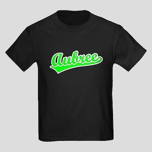 Retro Aubree (Green) Kids Dark T-Shirt