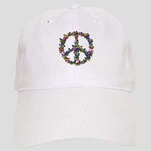 Butterflies Peace Sign Cap