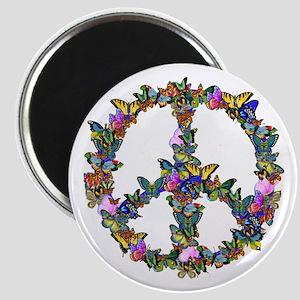 Butterflies Peace Sign Magnet