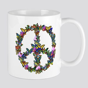 Butterflies Peace Sign Mug