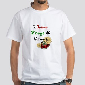 I Love Frogs & Crows White T-Shirt